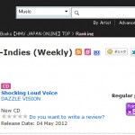 DAZZLE VISION's SHOCKING LOUD VOICE hits #1 on HMV Japan's Indies Pre-Order Chart
