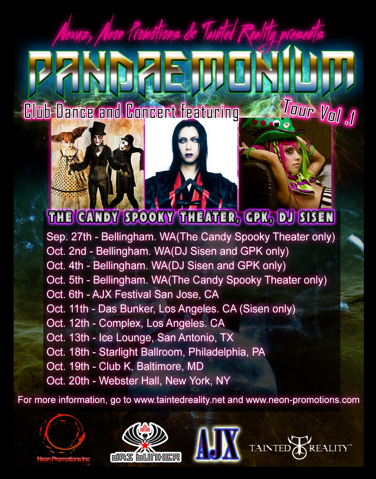 JRock247-Tainted-Reality-Pandemonium- Vol-1-Flyer