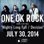 ONE OK ROCK Double-A side single to be released worldwide on July 30