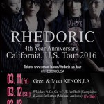 RHEDORIC announces first USA tour for 4th anniversary
