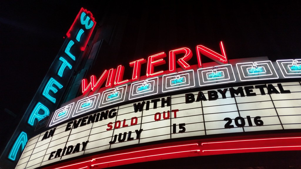 Jrock247-BABYMETAL-WILTERN-AN EVENING WITH BABYMETAL marquee