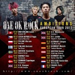 ONE OK ROCK announces Europe tour dates for December