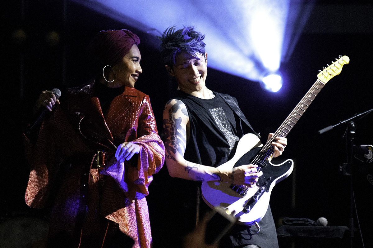 MIYAVI and Yuna perform Me and the Moonlight at the El Rey Theater in L.A.